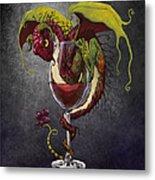 Red Wine Dragon Metal Print