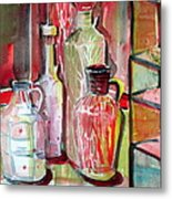 Red Wine Vinegar Metal Print by Mindy Newman