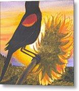 Red-wing Blackbird Metal Print