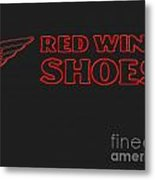 Red Wing Shoes Painted Metal Print