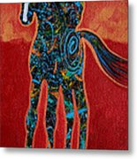 Red With Rope Metal Print