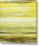 Redesdale Rhythms And  Textures Yellow And Sepia Metal Print