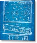 Redgrave Bagatelle Patent Art 1871 Blueprint Metal Print