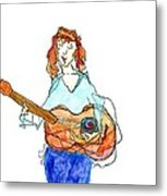 Redhead Player Metal Print