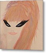 Redhead Woman Metal Print