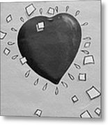 Redheart In Black And White2 Metal Print