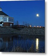 Redlin Art Center In Full Moon Metal Print