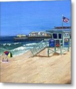 Redondo Beach Lifeguard  Metal Print