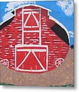 Redwood Farm Barn Metal Print