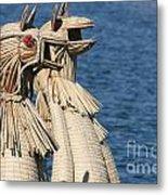 Reed Boat Lake Titicaca Metal Print