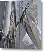 Reefing The Mainsail Metal Print