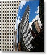 Reflected City Metal Print