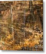 Reflected Gold Metal Print