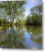 Reflected Star Metal Print