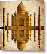 Reflected Taj Mahal Metal Print