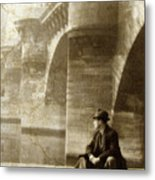 Reflecting By The Seine Metal Print