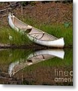 Reflecting Canoe Metal Print