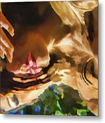 Reflecting On The Surface 1 Metal Print
