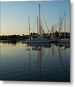 Reflecting On Yachts - Hot Summer Afternoon Mirror Metal Print