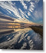 Reflecting Sunset Metal Print