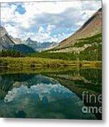 Reflection At Glacier National Park Metal Print