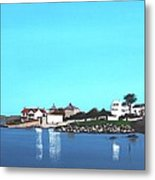 Reflections At Sandycove Metal Print