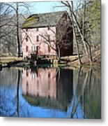 Reflection At The Mill Metal Print