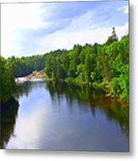 Reflection In Beaupre Quebec Metal Print