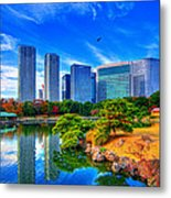 Reflection In Blues Metal Print