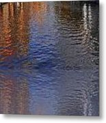 Reflection In Canal Metal Print