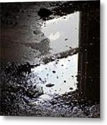 Reflection In Dirty Water Metal Print