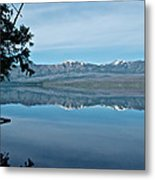 Reflection In Lake Mcdonald In Glacier National Park-montana Metal Print