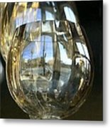 Reflection In The Glasss Metal Print by Donald Torgerson