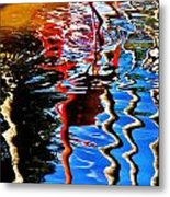 Reflection Of A Flamingo 1 Metal Print