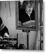 Reflection Of A Man Metal Print