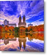Reflection Of City Metal Print