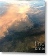 Reflection Of Clouds Metal Print