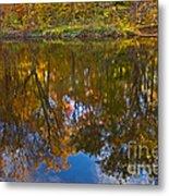 Reflection Of Fall Metal Print