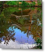 Reflection Of House On Water Metal Print