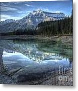 Reflection Of Mount Amery At Graveyard Flats Metal Print by Brian Stamm