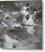 Reflection Of Raindrops In A Puddle Metal Print