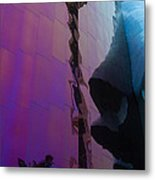 Reflection Of Seattle Space Needle Metal Print