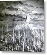 Reflection Of The Crescent Metal Print