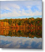 Reflection Of The Fall Metal Print