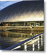 Reflection Of The Glasgow Science Metal Print