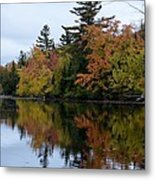 Reflection On The Raquette River Metal Print