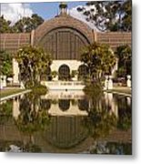 Reflection/lily Pond, Balboa Park, San Diego, California Metal Print