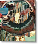 Reflection-venice Italy Metal Print