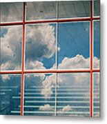 Reflections At Charles Town Races Metal Print