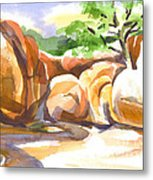 Reflections At Elephant Rocks Metal Print